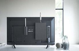 山崎実業 Yamazaki スマート テレビ裏カーペットクリーナースタンド ブラック(Cleaner Tools Rack) ブラック 4990
