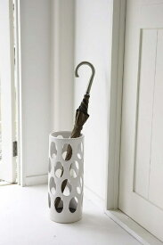山崎実業 Yamazaki 6092 アーバン 陶器傘立て ホワイト(Pottery UmBRella Stand Urban WH) ホワイト