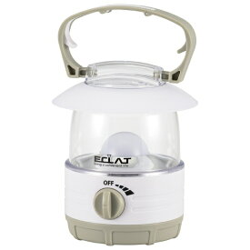オーム電機 OHM ELECTRIC ECLAT無段階調光LEDランタン 70lm LN-07B7-W [LED /単3乾電池×4]