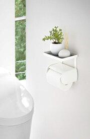 山崎実業 Yamazaki トイレットペーパーホルダー上ラック プレート ホワイト(Toilet Paper Holder Rack Plate) ホワイト 4435