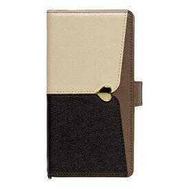 ナチュラルデザイン NATURAL design マルチタイプ手帳型ケース L-size JUDY Beige × Black