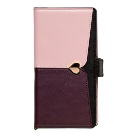 ナチュラルデザイン NATURAL design マルチタイプ手帳型ケース L-size JUDY Pink × Brown