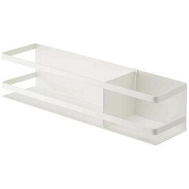 山崎実業 Yamazaki 冷蔵庫横マグネットワイド収納ラック プレート(Magnet Storage Rack Plate) ホワイト 4120