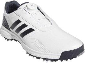 アディダス adidas 30.0cm メンズ ゴルフシューズ トラクション ボア(ホワイト×ブラックブルーメタリック×シルバーメタリック) BTE47