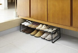 山崎実業 Yamazaki 伸縮シューズラック フレーム ブラック(Frame Adjustable Shoe Rack BK) ブラック 7210
