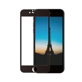 OWLTECH オウルテック iPhone SE(第2世代)/8/7/6s/6対応 液晶画面保護強化ガラス 絶対に貼り付けミスをしないキット付属 OWL-GUIC47F-BCL ブラック