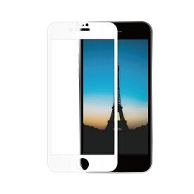OWLTECH オウルテック iPhone SE(第2世代)/8/7/6s/6対応 液晶画面保護強化ガラス 絶対に貼り付けミスをしないキット付属 OWL-GUIC47F-WCL ホワイト