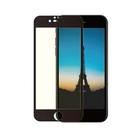 OWLTECH オウルテック iPhone SE(第2世代)/8/7/6s/6対応 液晶画面保護強化ガラス 絶対に貼り付けミスをしないキット付属 OWL-GUIC47F-BBC ブラック
