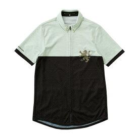 KAPELMUUR カペルミュール メンズ 半袖シャツジャージ バーチカル千鳥(Mサイズ/ショコラ) KPHS146