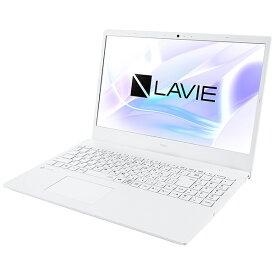 NEC エヌイーシー PC-N1510AAW ノートパソコン LAVIE N15(N1510/AA) パールホワイト [15.6型 /AMD Athlon /HDD:500GB /メモリ:4GB /2020年夏モデル]