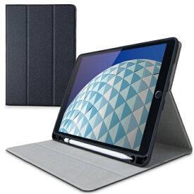 エレコム ELECOM 10.5インチ iPad Air(第3世代)・iPad Pro用 フラップケース Pencil収納 スリープ対応 ブラック TB-A19MSABK
