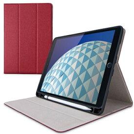 エレコム ELECOM 10.5インチ iPad Air(第3世代)・iPad Pro用 フラップケース Pencil収納 スリープ対応 レッド TB-A19MSARD