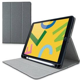 エレコム ELECOM iPad 10.2(第7/第8世代対応) ケース Pencil収納 グレー TB-A19RSAGY