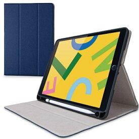 エレコム ELECOM iPad 10.2(第7/第8世代対応) ケース Pencil収納 ネイビー TB-A19RSANV
