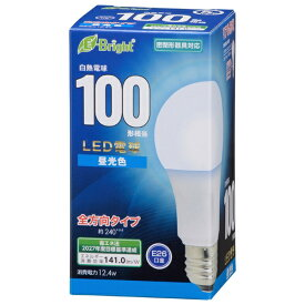 オーム電機 OHM ELECTRIC LED電球 E26 100形相当 昼光色 LDA12D-GAG27 [E26 /一般電球形 /100W相当 /昼光色 /1個 /全方向タイプ]