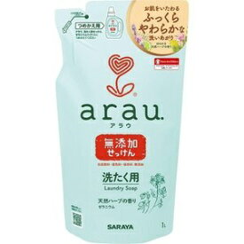 サラヤ saraya arau洗濯用せっけんゼラニウム 替え 1L アラウ
