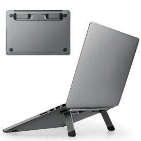 エレコム ELECOM ノートパソコンスタンド[13.3〜15.6インチ] 折りたたみ 装着式 アルミ スペースグレー PCA-LTSFAGY