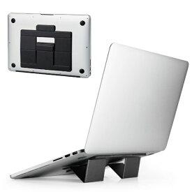 エレコム ELECOM ノートパソコンスタンド[11.6〜13.3インチ] 折りたたみ 装着式 薄型 Mサイズ ブラック PCA-LTSFSMBK