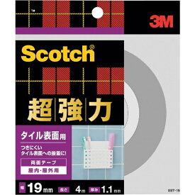 3Mジャパン スリーエムジャパン 3M スコッチ 超強力両面テープ タイル表面用 19mm×4m SST-19