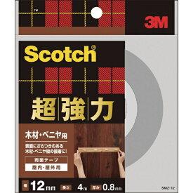 3Mジャパン スリーエムジャパン 3M スコッチ 超強力両面テープ 木材・ベニヤ用 12mm×4m SMZ-12