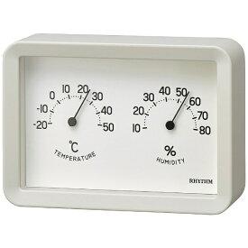 リズム時計 RHYTHM 9CZ204SR03 温湿計 A Series A6 温湿度計 ホワイト [アナログ]