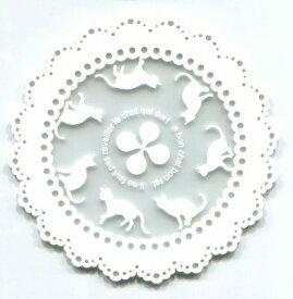 丸栄日産 MARUE NISSAN アニマルコースター キャット ホワイト JJ1100