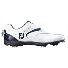 フットジョイ FootJoy 24.5cm ゴルフシューズ EXL Boa(ホワイト×ネイビー/2E)45144