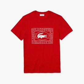 ラコステ LACOSTE メンズ ウエア Tシャツ ワニプリントクルーネックTシャツ(3(Sサイズ)/レッド)TH5097L