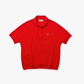 ラコステ LACOSTE レディース ポロシャツ リラックスフィット ピケポロシャツ (半袖)(Mサイズ/レッド)PF0504L