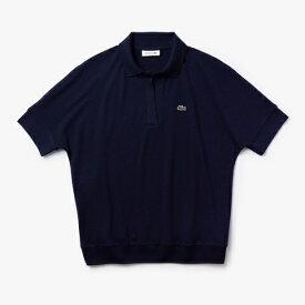 ラコステ LACOSTE レディース ポロシャツ リラックスフィット ピケポロシャツ (半袖)(Mサイズ/ネイビー)PF0504L