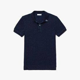 ラコステ LACOSTE レディース ポロシャツ レギュラーフィットインディゴピケポロシャツ (半袖)(36(Mサイズ)/ダークインディゴブルー)PF126EL