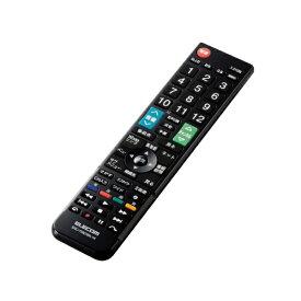 エレコム ELECOM かんたんTVリモコン第2弾 日立・Wooo用 ブラック ERC-TV02XBK-HI
