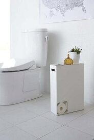 山崎実業 Yamazaki トイレットペーパーストッカー プレート ホワイト(Plate Toilet Paper Stocker WH) ホワイト 02294