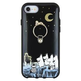 グルマンディーズ gourmandise iPhoneSE2 8/7/6 ムーミン IIII fit Ring 夜の海辺