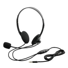 エレコム ELECOM HS-HP22TBK ヘッドセット ブラック [φ3.5mmミニプラグ /両耳 /ヘッドバンドタイプ][HSHP22TBK]