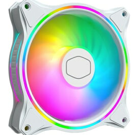 クーラーマスター COOLER MASTER ケースファン[120mm / 1800RPM] MasterFan MF120 Halo White Edition ホワイト MFL-B2DW-18NPA-R1