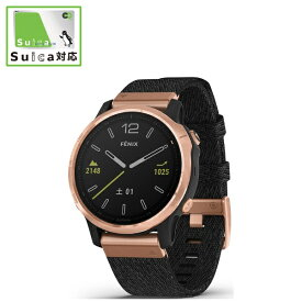 GARMIN ガーミン fenix 6S Sapphire Black Rose Gold Nylon band【Suica対応】 010-02159-8F Black Rose Gold