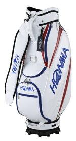 本間ゴルフ キャディバッグ (9.0型/ホワイト×レッド)CB12023