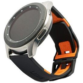 UAG URBAN ARMOR GEAR UAG社製 Galaxy Watchバンド 46mm用 CIVILIANシリーズ(ブラック/オレンジ) UAG-RGWLC-B/O