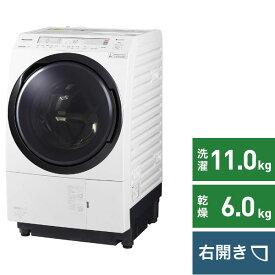 パナソニック Panasonic ドラム式洗濯乾燥機 VXシリーズ クリスタルホワイト NA-VX800BR-W [洗濯11.0kg /乾燥6.0kg /ヒートポンプ乾燥 /右開き][洗濯機 11kg]