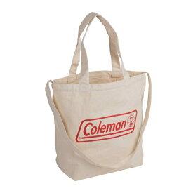 コールマン Coleman ロゴトート2WAYキャンパストート レッド LOGOTOTE