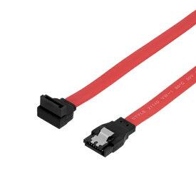 OWLTECH オウルテック SATA3.0ケーブル 50cm[ストレート - 上L型]コネクター ラッチなし 6Gbps対応 レッド OWL-SATA3SLT50-RE