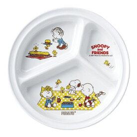 スリーライン Threeline メラミン お子様食器「スヌーピー」 丸ランチ皿 <RSN3601>