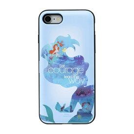 HAMEE ハミィ [iPhone SE 2020/8/7専用]ディズニーキャラクター Latootoo カード収納型 ミラー付きiPhoneケース 599-917-918418 プリンセス/アリエル