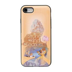 HAMEE ハミィ [iPhone SE 2020/8/7専用]ディズニーキャラクター Latootoo カード収納型 ミラー付きiPhoneケース 599-917-918425 プリンセス/ベル