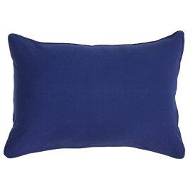 小栗 OGURI 枕カバー 綿ニットカラー 43×90cm 綿100% ネイビー NT4390-72
