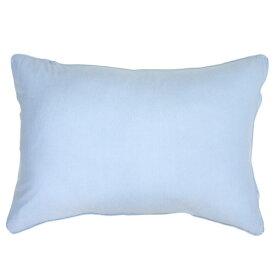 小栗 OGURI 枕カバー 綿ニットカラー 43×90cm 綿100% サックス NT4390-76