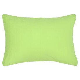 小栗 OGURI 枕カバー 綿ニットカラー 43×63cm 綿100% グリーン NT4363-53