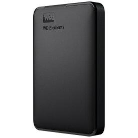 WESTERN DIGITAL ウェスタン デジタル WDBUZG0020BBK-JESE 外付けHDD USB-A接続 WD Elements Portable [2TB /ポータブル型]