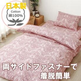 小栗 日本製 掛ふとんカバー シングルロング オリオン 両サイドファスナー ピンク 223579-16